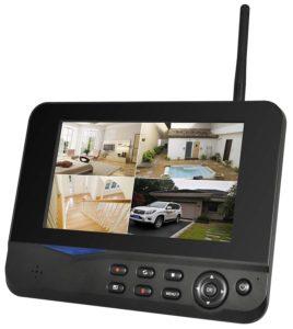 Überwachungskamera mit Monitor
